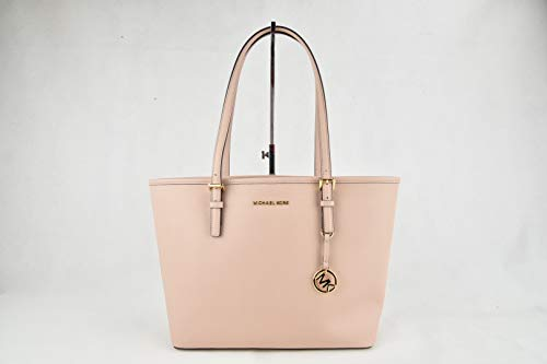 MICHAEL Michael Kors Jet Set Travel Medium Carryall Tote Saffiano Leather - Ballet