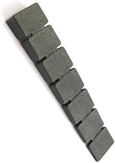 bum24 - 20er Set Kunststoff-Möbelkeile, Unterlegkeile mit 7 Segmenten, Steigung 1-8 mm, 76 x 15 mm, schwarz
