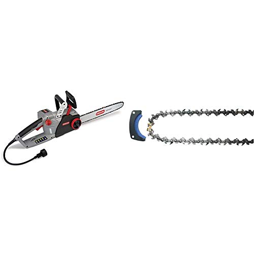 Oregon CS1500 18 in. 15 Amp Self-Sharpening Corded Electric Chainsaw & 571037 PowerSharp Chain and...