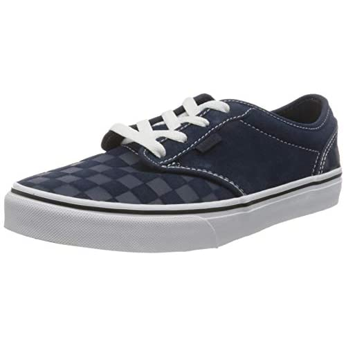 Vans Atwood Suede, Scarpe da Ginnastica, Deboss Checkerboard Dress Blues/White, 34.5 EU