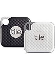Tile RT-18002 Pro with Replaceable Battery, Jet Black/Graphite and White/Graphite (Pack of 2)