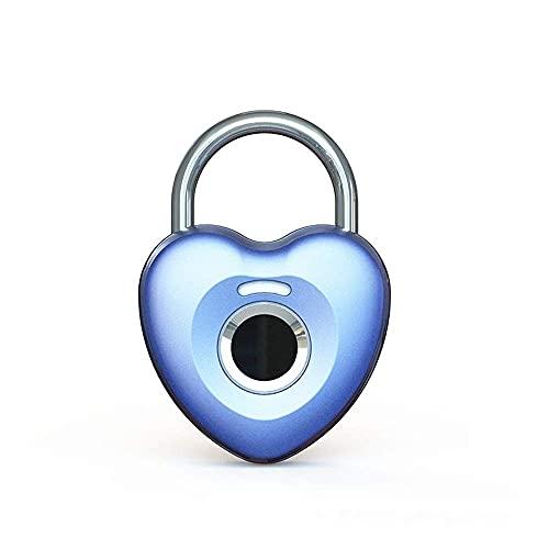 GPWDSN Candado de Huellas Dactilares Smart Touch Lock Metal Impermeable Antirrobo Inteligente sin Llave para casillero de Gimnasio, candado de casillero Escolar, Mochila, Maleta, Equipaje de v