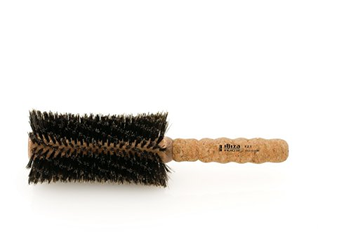 Ibiza Hair Brush - Z5 Boars Hair Brush - Salon Quality, Heat Resistant 80mm Round Brush for Long Hair - Made in Spain