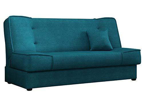 Mirjan24 Schlafsofa Gemini mit Bettkasten, 3 Sitzer Sofa, Couch mit Schlaffunktion, Bettsofa Schlafsofa Polstersofa Farbauswahl Couchgarnitur (Enjoy 17)