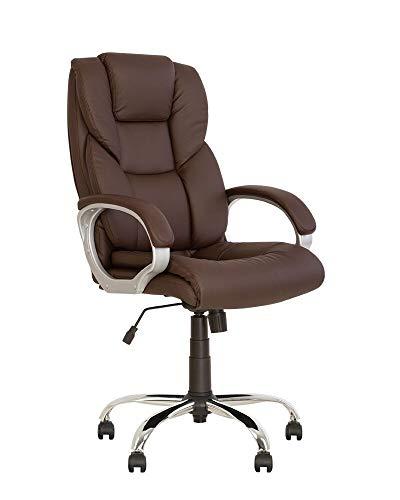 Cherry - Sillón de dirección de tipo síncrone, silla de oficina, ergonómica, volante, base multiposición, piel ecológica