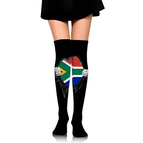 Nice-Guy Südafrikanische Flagge stolze Frauen Winter warm über Knie Oberschenkel hohe Socken Strumpf