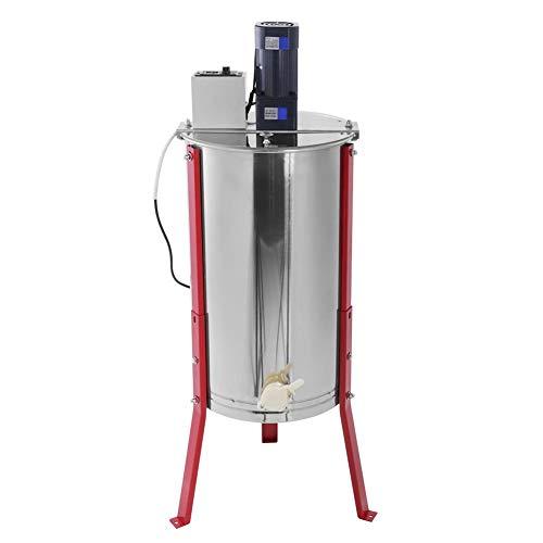 Honigschleuder, Elektrische Honig-Extraktor 3 Waben Imker Schleuder Honigschleuder, Lebensmittelechter Edelstahl mit Cover, EU Stecker 220V