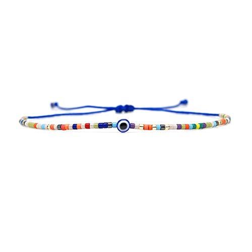 Nobrand Miyuki Pulseras Turcas Mal De Ojo Brazalete Boho Chic Pulsera Rainbow Jewelry Pulseras Mujer Moda Mujeres Bileklik Nuevo