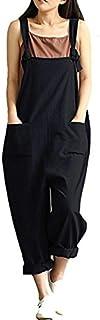 Women's Casual Jumpsuits Overalls Baggy Bib Pants Plus...