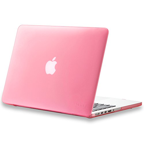 Kuzy - Older Version MacBook Pro 13.3 inch Case (Release 2015-2012) Rubberized Hard Cover for Model A1502 A1425 with Retina Display Shell Plastic - Pink