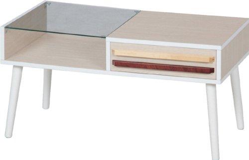 リビングテーブル「オスロ-HH-8040PG-」【FBC】ホワイト(#9881596-10033)サイズ:幅80×奥行43×高さ42cm【リビング テーブル ローテーブル ガラステーブル センターテーブル おしゃれ 机 木製】
