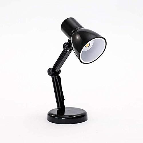 Pequeño libro lámpara dormitorio pequeña noche lámpara mini libro clip lámpara luz caliente protección ojos pequeña lámpara de mesa negro