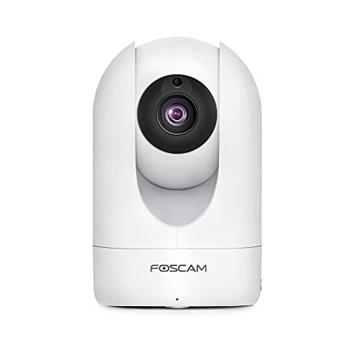 Foscam R2M - Cámara IP WiFi Interior motorizada de 2 MP, cámara de vigilancia Visible y Control Remoto, aplicación para Smartphone, detección de Movimiento, 8 Horas de grabación en Nube
