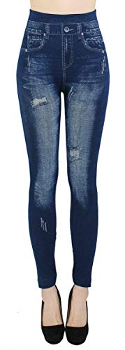 dy_mode Damen Thermo Leggings/Thermo Jeggings mit Innenfutter Teddyfleece Damen Thermo Leggins - Gr. 36-42 - WL026-027 (40/42 - L/XL, WL038)