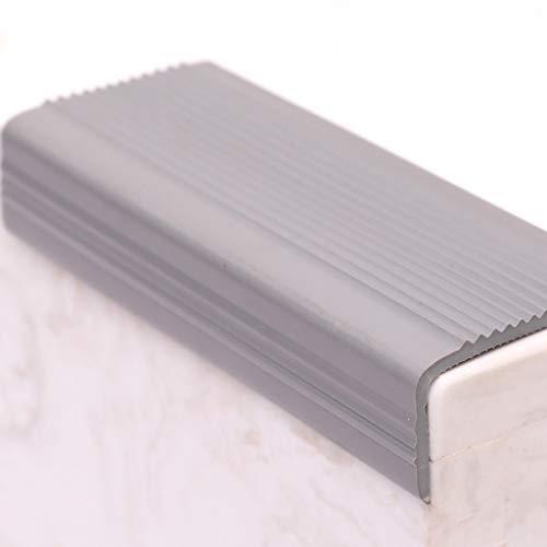 MELAG Treppenkante Selbstklebendes Treppenkanten-Profil Treppenprofil Treppenkantenprofil Treppe L-förmige rutschfeste PVC-Gummieckentreppe Anti-Rutsch-Streifen Anti-Fall (2,5 * 5 * 100 cm)
