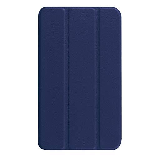 JIANGHONGYAN Funda de Cuero Custer Textura con diseño Vuelta Horizontal en Color Pura con Soporte Plegable for Samsung Galaxy Tab A 7.0 2016 / T280N (Color : Dark Blue)