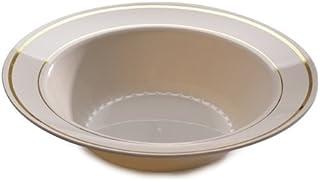 Paquete de 80 cuencos desechables para fiesta tazones de pl/ástico transparente para postre//sopa ~ 340 ml