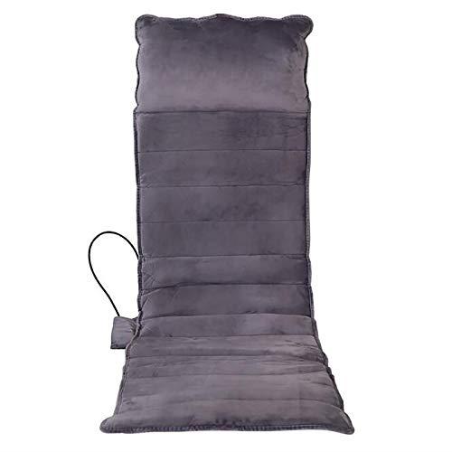 DUGURUI Cuscino Massaggiante Riscaldante Elettrico,Materasso Massaggiante Vibrante,Vibrazione Tridimensionale 3D,Adatto per Casa E Auto,Grigio
