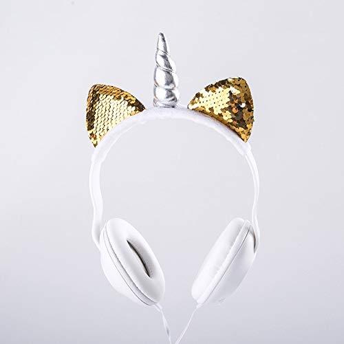 LindoOreja deGato UnicornioLEDFlash Auriculares Auriculares Brillantes con Cable Juego...