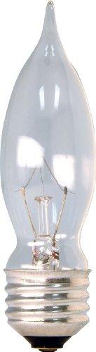 GE 48401-12 60-Watt Crystal Clear Bent Tip CA9, 12-Pack