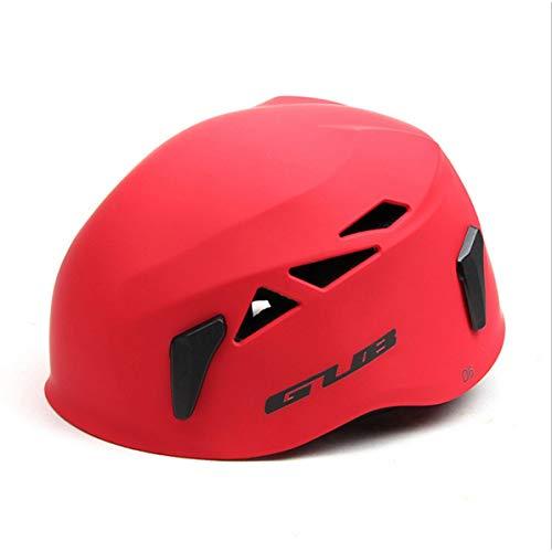 Monllack Casco Gub D6 Sviluppo all'aperto Speleologia Rescue Alpinismo Casco Drifting Cappello di Sicurezza Attrezzatura da Arrampicata (Rosso