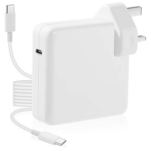 Mac Charger USB-C 61w Power Adapter compatible with Macbook Pro 13 inch Thunderbolt 3 Charger,Type C PD Laptop Wall Charger for New Macbook Air 2019,Dell XPS,Matebook,iPad Pro,iPhone,Galaxy and More