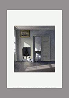 BiblioArt Series ハマスホイ額絵「Interior with an Easel, Bredgade 25」A4版額絵