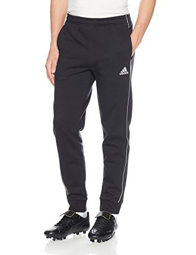 adidas mens Core 18 AEROREADY Slim Fit Full Length Soccer Training Joggers Sweatpants, Black/White, M