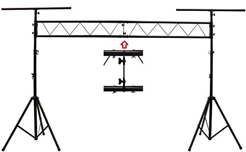 CEDARSLINK LK-X10 10' METAL PARTS DJ PORTABLE LIGHT LIGHTING T BAR STAND TRUSS W/Updated Wingnut Connection System All Metal Parts No Tools Required