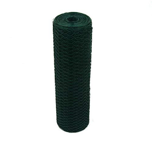 Garmix Sechseckgeflecht Grün 13mm Kaninchendraht Hasendraht 1mm (50cm, 25m)