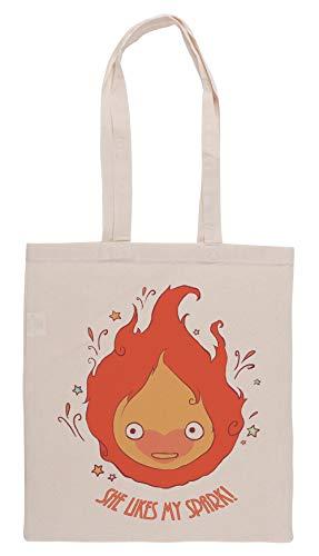 Luxogo She Likes My Spark! Einkaufstasche Groceries Beige Shopping Bag