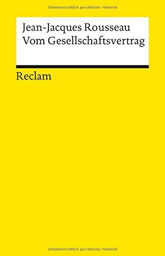 Vom Gesellschaftsvertrag (Reclams Universal-Bibliothek)