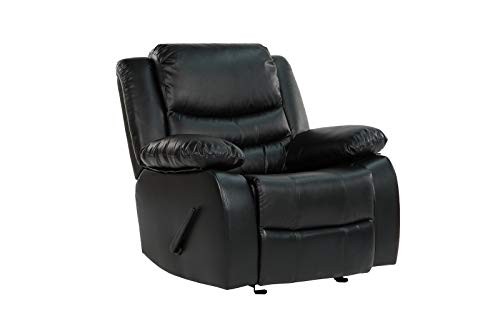 Divano Roma Furniture Black Recliner Chair CAM008