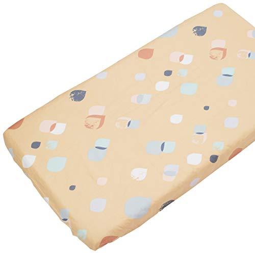 Goldene Serena - Pati'Chou 100% Baumwolle Spannbetttuch Geometrisches Muster für Kinderbetten 70 x 160 cm