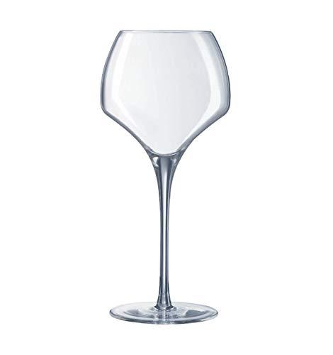 Visiodirect Lot de 24 Verres à vin en cristallin Open'up - 55cl