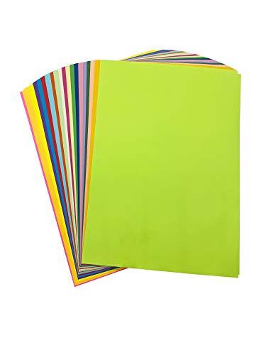 Erlliyeu Buntpapier Farbigen A4 Kopierpapier Papier Basteln Gestalten Dekorieren 100 Blätter 20 Farben …