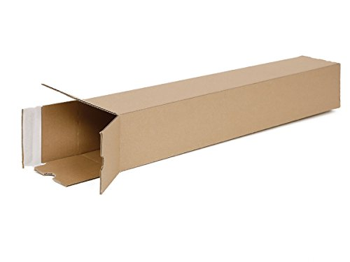 20 Versandhülsen eckig DIN A1 | Papprolle 610x105x105mm Versand ohne Sperrgutzuschlag | wählbar 10 bis 1600 Versandrollen