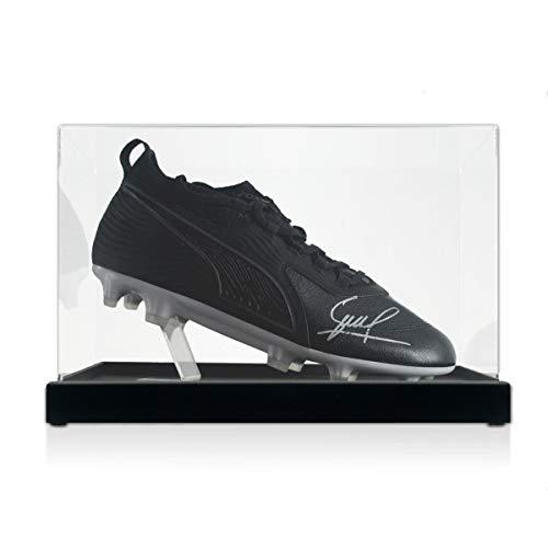 David Silva Signed Soccer Shoe. In Display Case | Autographed EPL Memorabilia