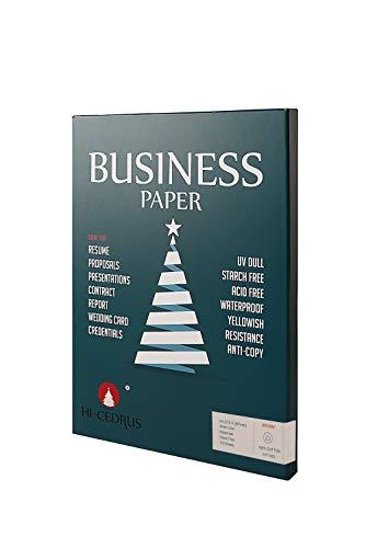 100 % Baumwoll-Papier, A4 Geschäftspapier, 90 g/m², Inkjet-Laserdruckpapier, A4, 210 x 297 mm, Weiß, 100 Blatt wasserdichtes Wasserzeichen-Papier