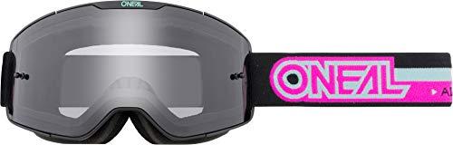O'NEAL   Fahrrad- & Motocross-Brille   MX MTB DH FR Downhill Freeride   Verstellbares Band, optimaler Komfort, perfekte Belüftung   B-20 Goggle   Erwachsene   Schwarz Pink Clear   One Size