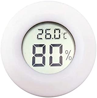 for Tang YI MING TL Digital Round Shaped Reptile Box Centigrade Thermometer & Hygrometer with Screen Display (Black) Messgerät (Color : White)