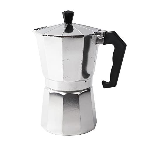Moka Pot Espresso Maker - Cafetera de estufa, 300 ml de aluminio Moka Pot Cafetera octogonal para tazas de café para el hogar para electrodomésticos de café espresso