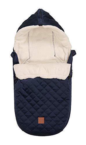 Babyschalenfußsack Velvet Hoody, navy
