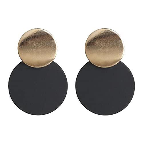 LCUK Pendientes Joyería de Moda Pendientes de Anillo Redondo con Personalidad Salvaje geométrica Pendientes de joyería de Lujo para Mujer Pendientes de botón