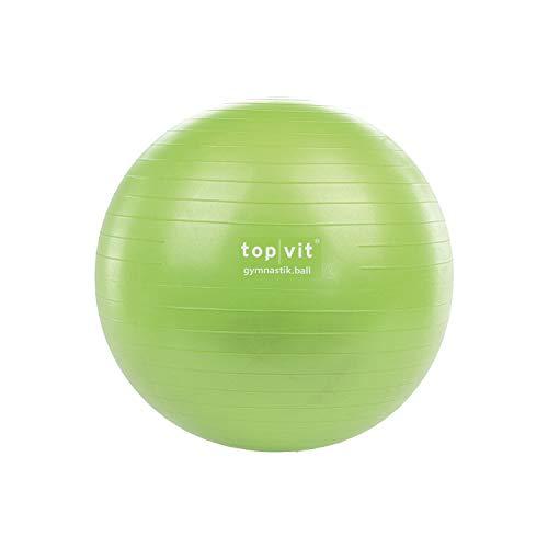 top vit Gymnastikball Gymnastic.Ball für Fitness- und Sportübungen in 3 Größen 55cm, 65cm und 75cm (Apple, 65 cm)