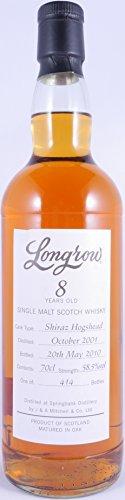 Longrow 2001 8 Years Shiraz Hogshead Campbeltown Single Malt Scotch Whisky Cask Strength 58,5% Vol. - eine von nur 414 Flaschen eines außergewöhnlichen Longrow Single Malt!