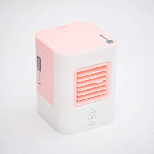 Mini refrigerador de aire en miniatura portátil, mini ventilador refrigerador pequeño aire acondicionado más hielo escritorio aire acondicionado ventilador sin sentido tranquilo aire enfriador de aire
