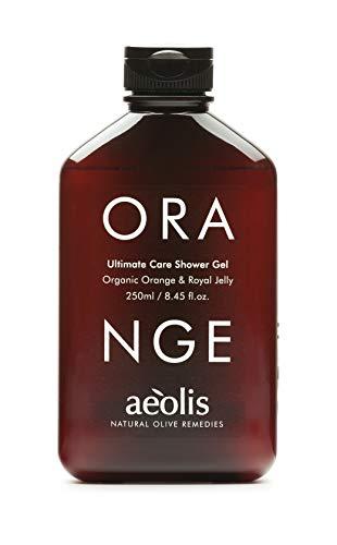 AEOLIS Skincare | ORANGE Ultimate Care Shower Gel | Orange & Gelée Royal | Beruhigt trockene und gereizte Haut | 100% natürlich | Ohne künstliche Zusätze (Orange, 250ml)