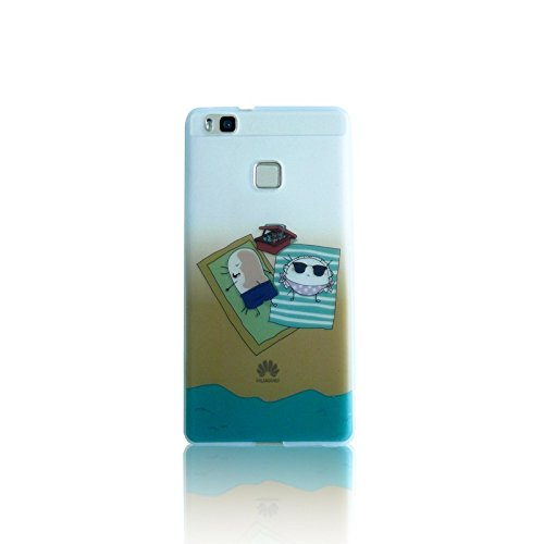 CROQUETA Y EMPANADILLA CECAR005 - Carcasa para Huawei P9 Lite, diseño Playa, Color Verde