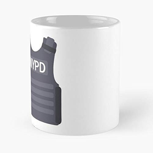 NGTHIUHAN Brooklyn Case Vector Bulletproof Nine Bullet Proof NYPD Best 11 oz Kaffeebecher - Nespresso Tassen Kaffee Motive